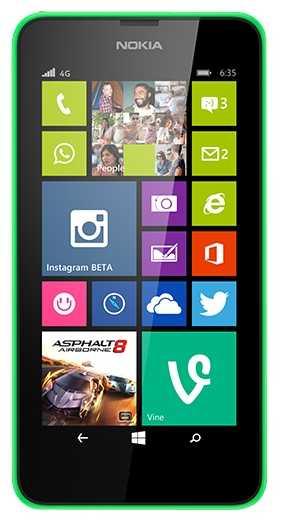 Цены на ремонт Lumia 635